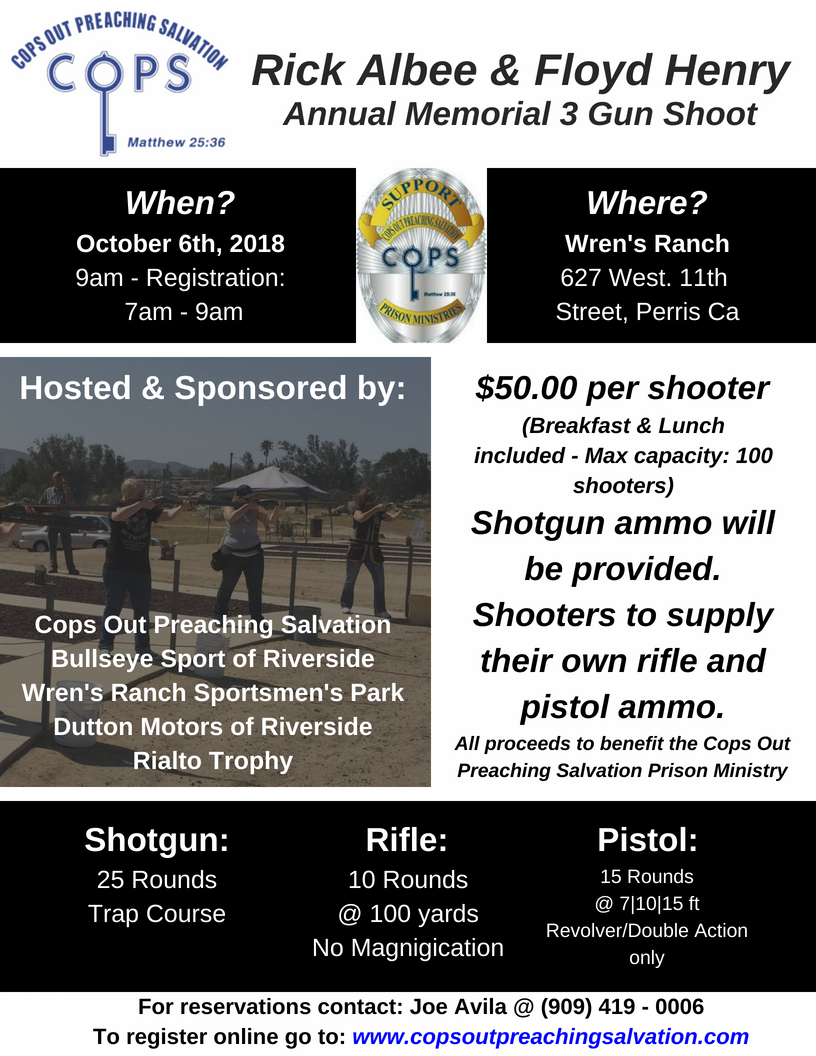 Rick Albee and Floyd Henry Memorial 3-gun Shoot - October